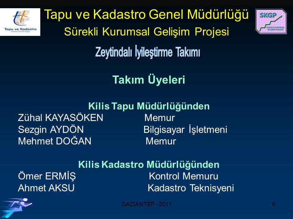 Kilis Tapu Müdürlüğünden Kilis Kadastro Müdürlüğünden