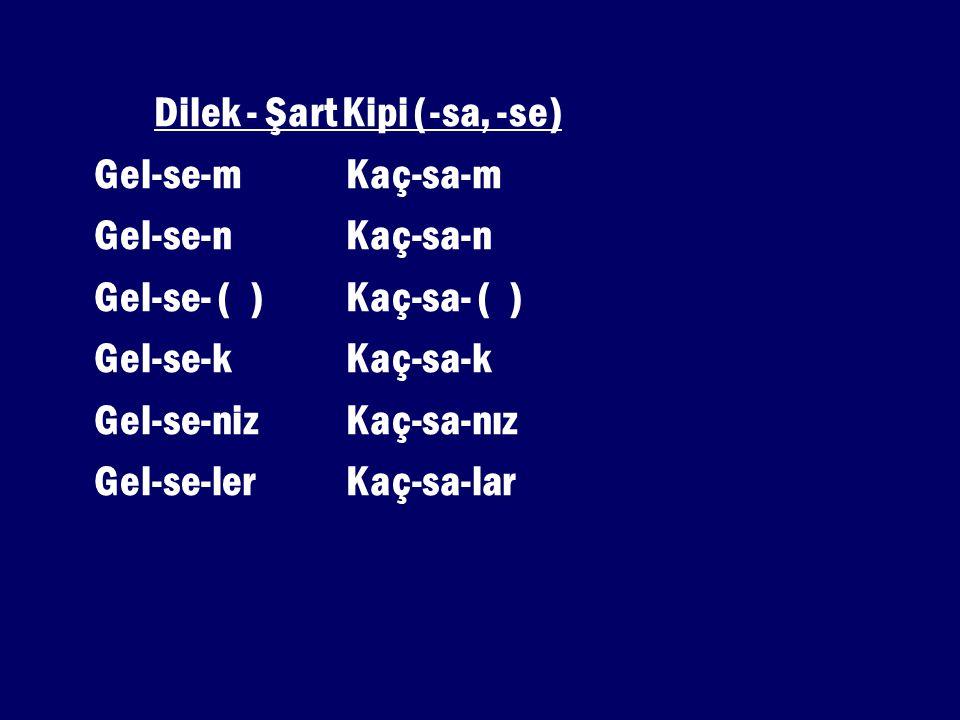 Dilek - Şart Kipi (-sa, -se)
