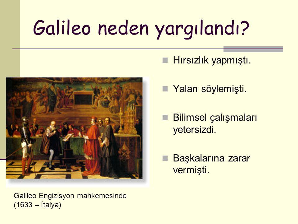 Galileo neden yargılandı