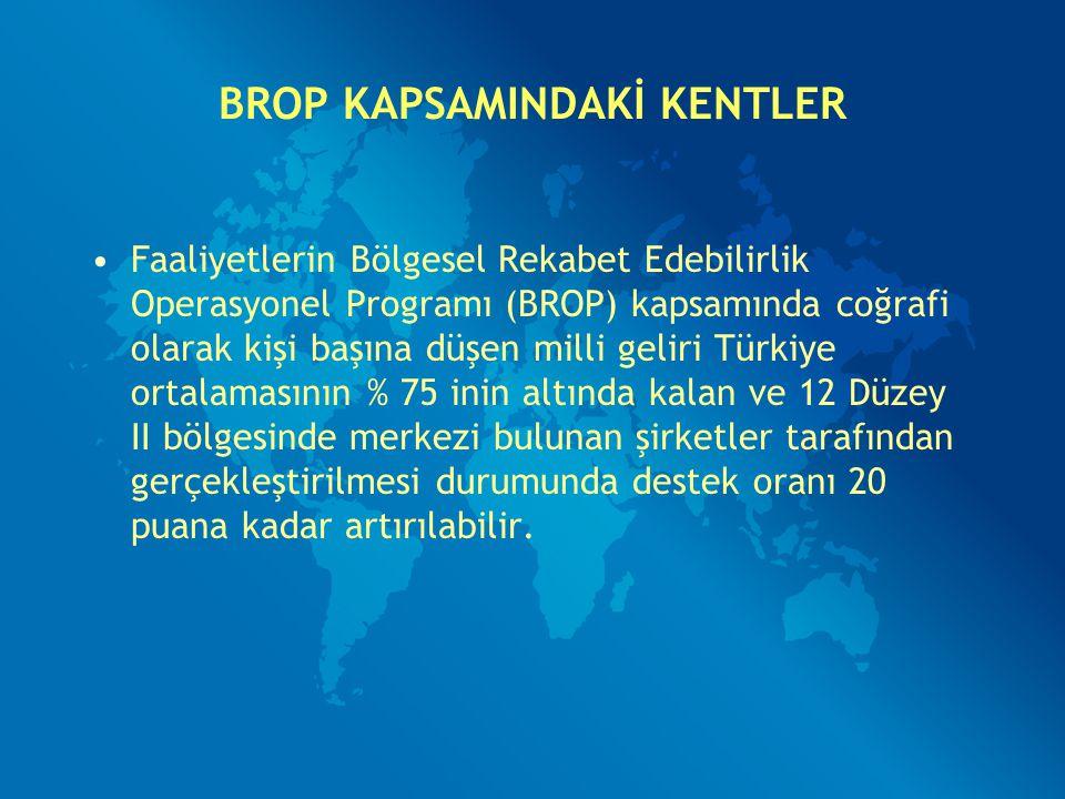 BROP KAPSAMINDAKİ KENTLER