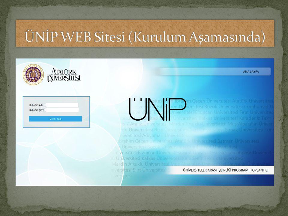 ÜNİP WEB Sitesi (Kurulum Aşamasında)