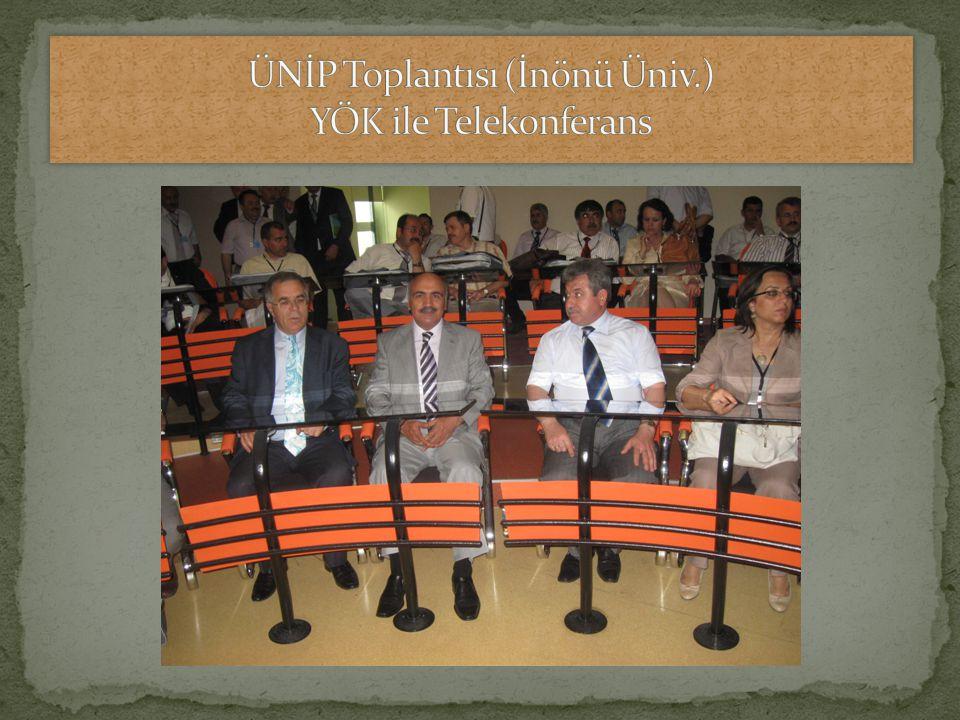 ÜNİP Toplantısı (İnönü Üniv.) YÖK ile Telekonferans