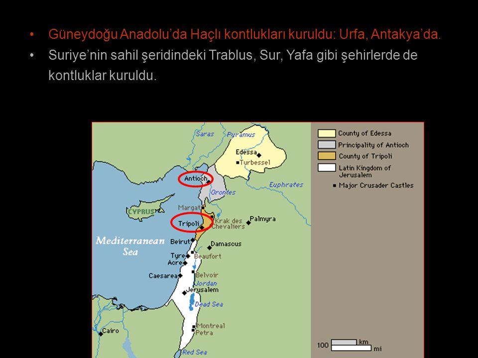 Güneydoğu Anadolu'da Haçlı kontlukları kuruldu: Urfa, Antakya'da.