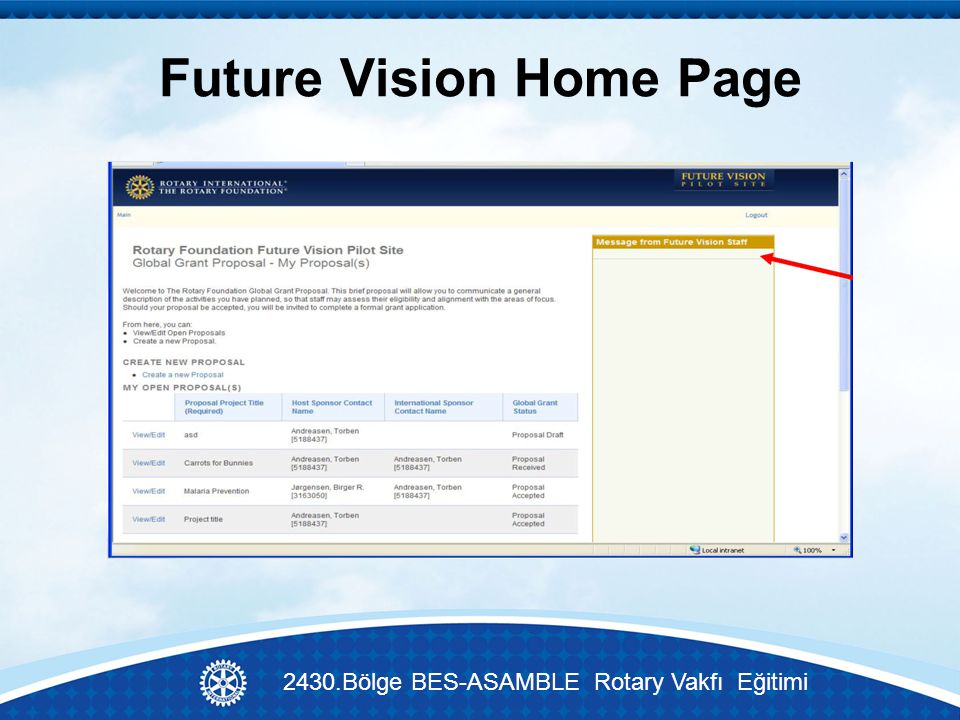 Future Vision Home Page