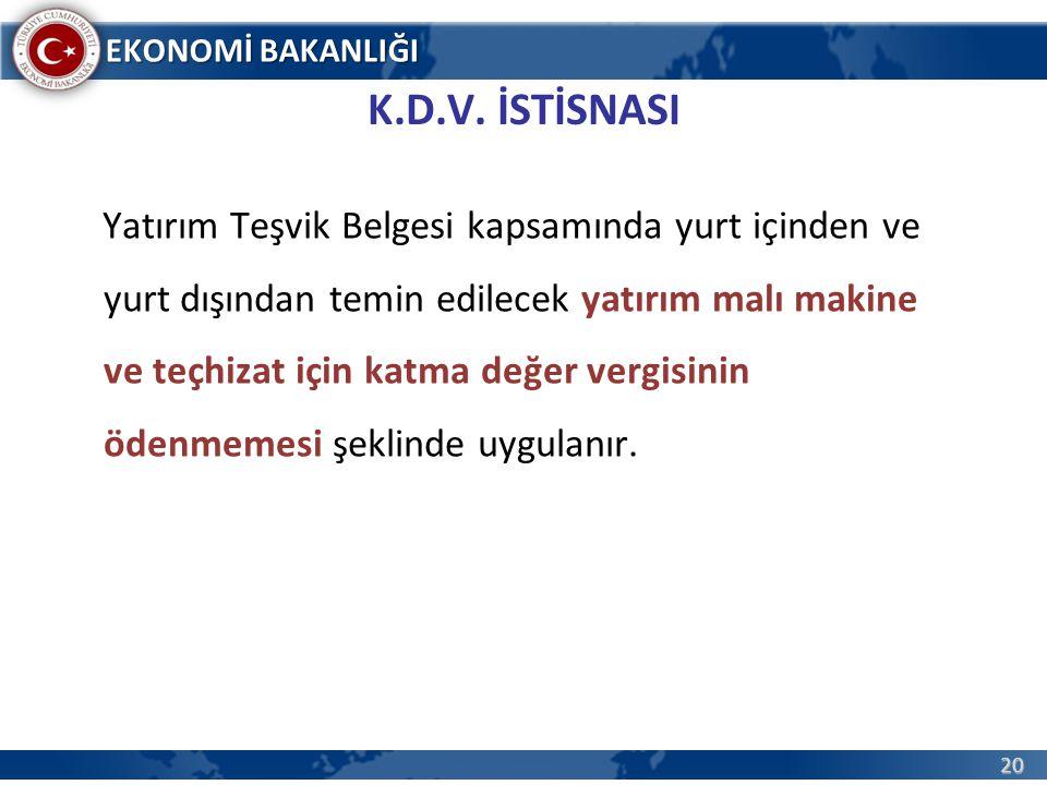 K.D.V. İSTİSNASI