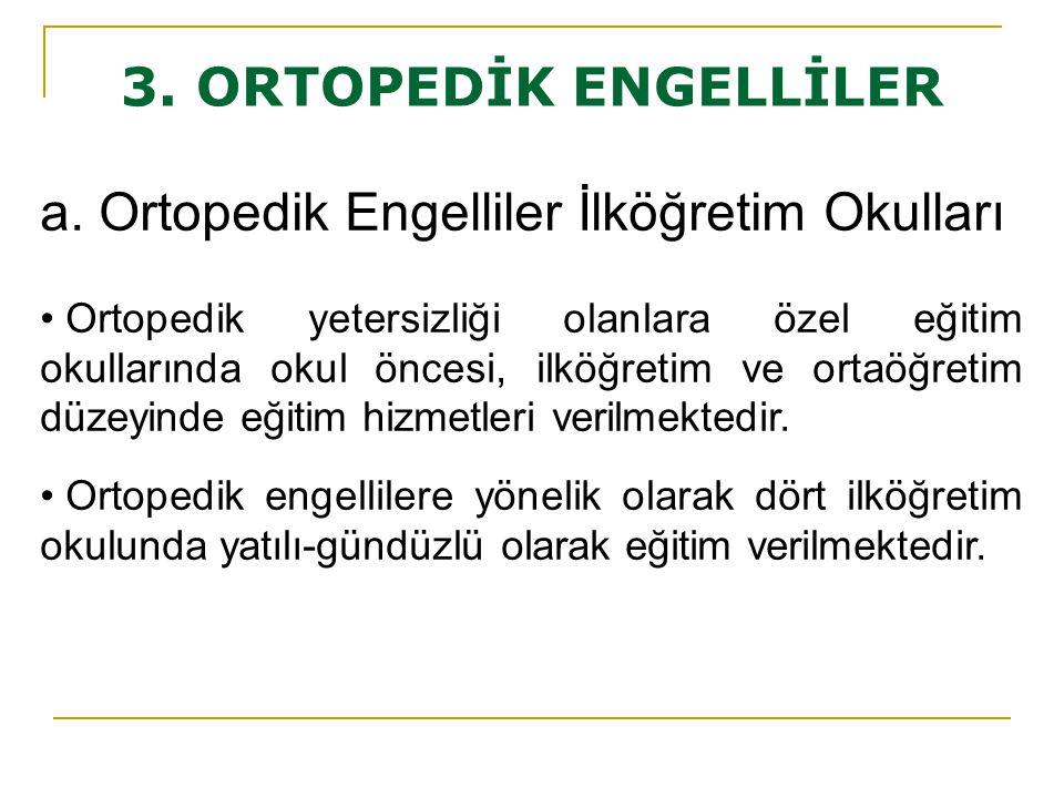 a. Ortopedik Engelliler İlköğretim Okulları