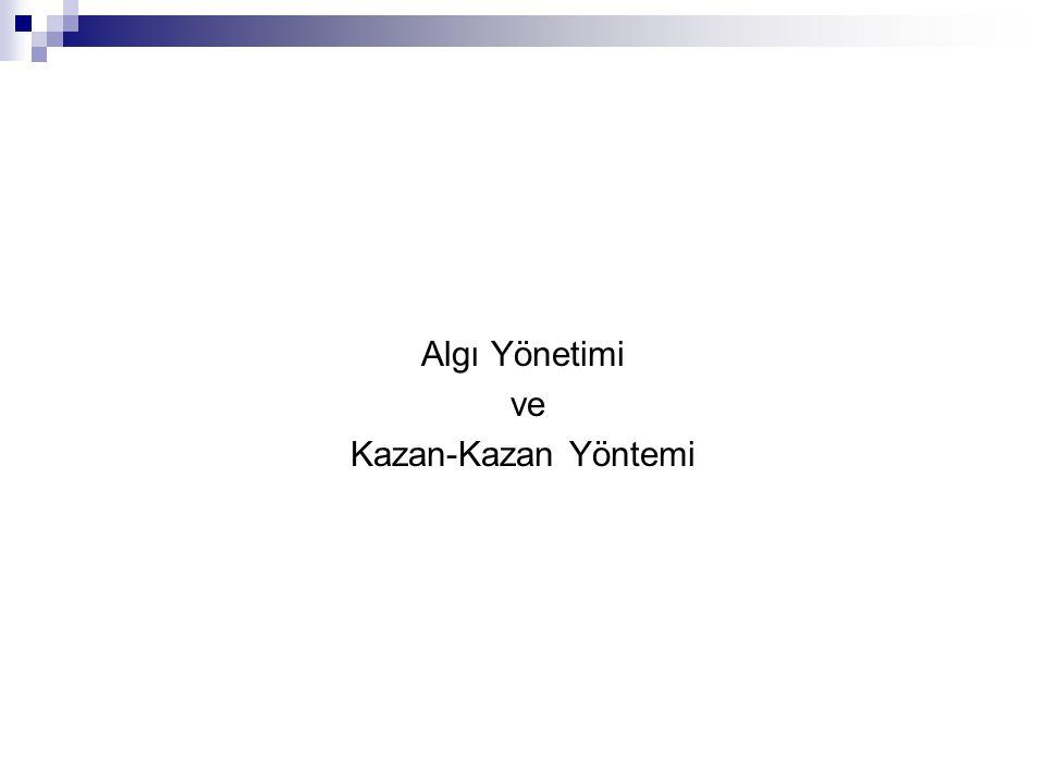 Algı Yönetimi ve Kazan-Kazan Yöntemi