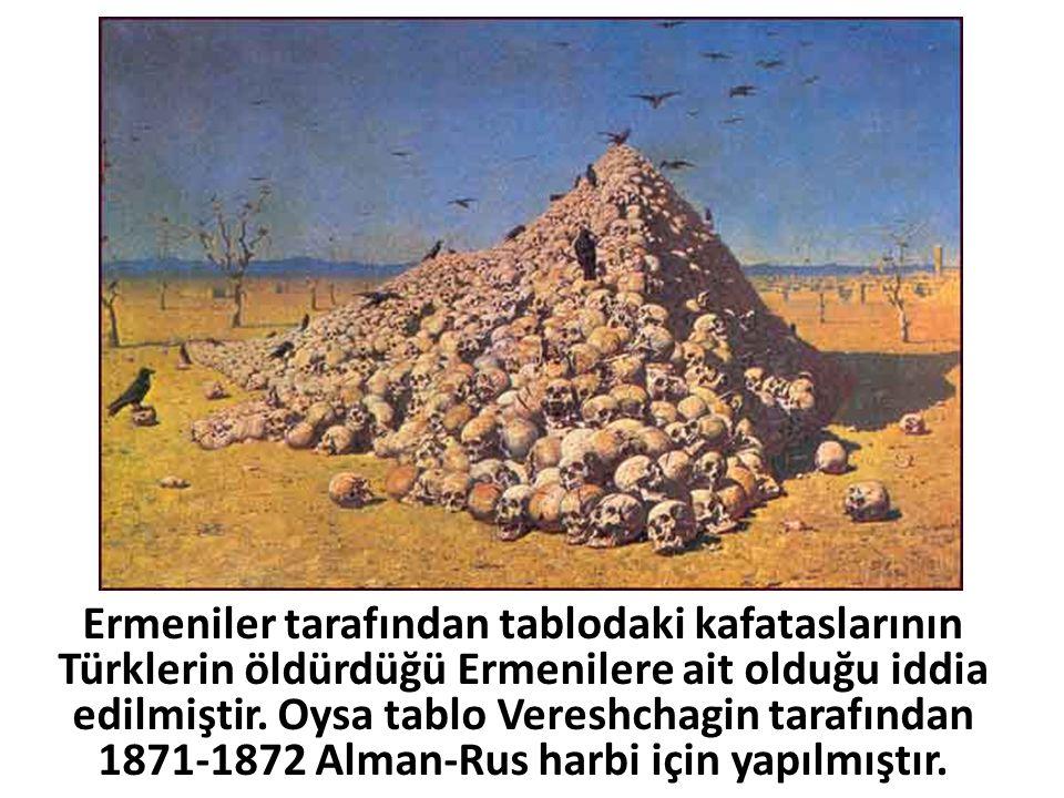 Ermeniler tarafından tablodaki kafataslarının Türklerin öldürdüğü Ermenilere ait olduğu iddia edilmiştir.