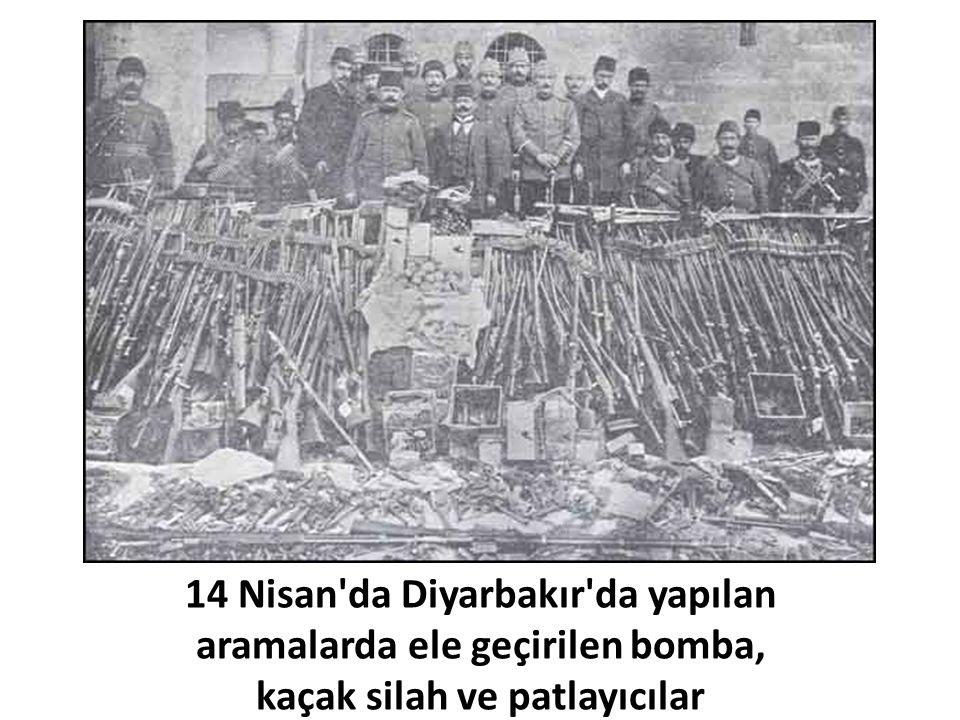 14 Nisan da Diyarbakır da yapılan aramalarda ele geçirilen bomba,