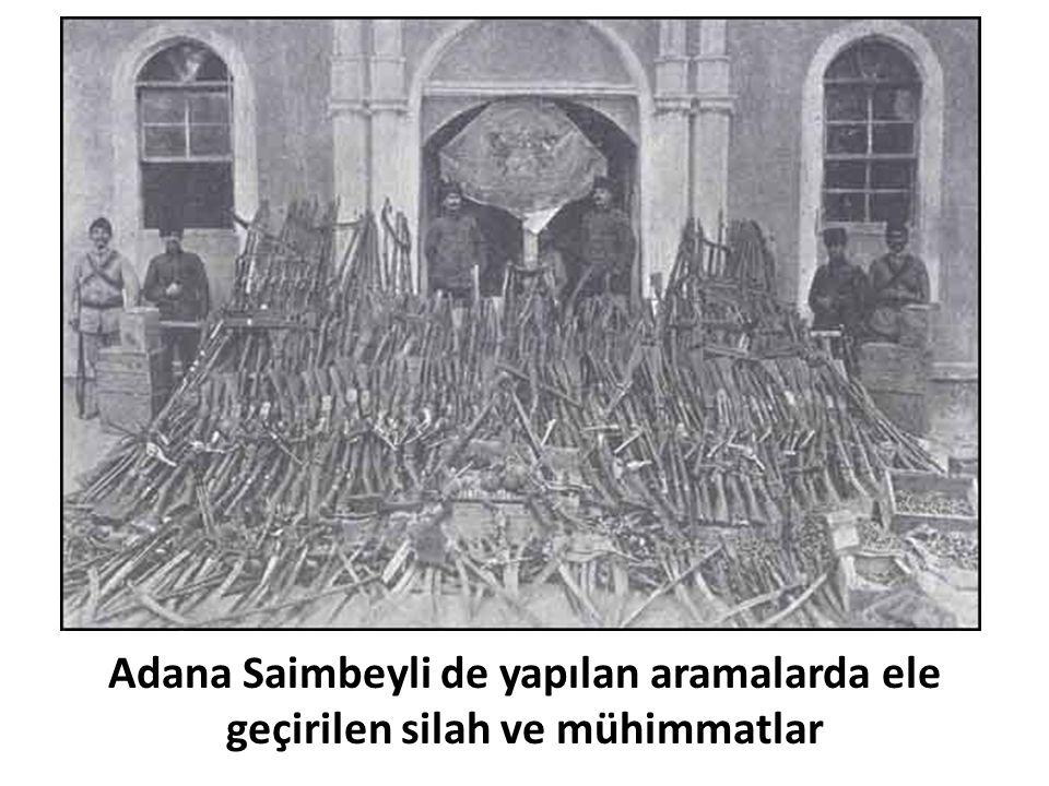 Adana Saimbeyli de yapılan aramalarda ele geçirilen silah ve mühimmatlar