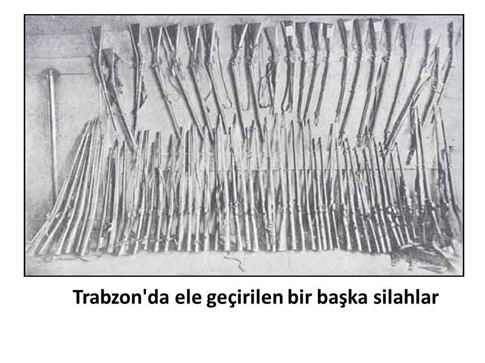 Trabzon da ele geçirilen bir başka silahlar