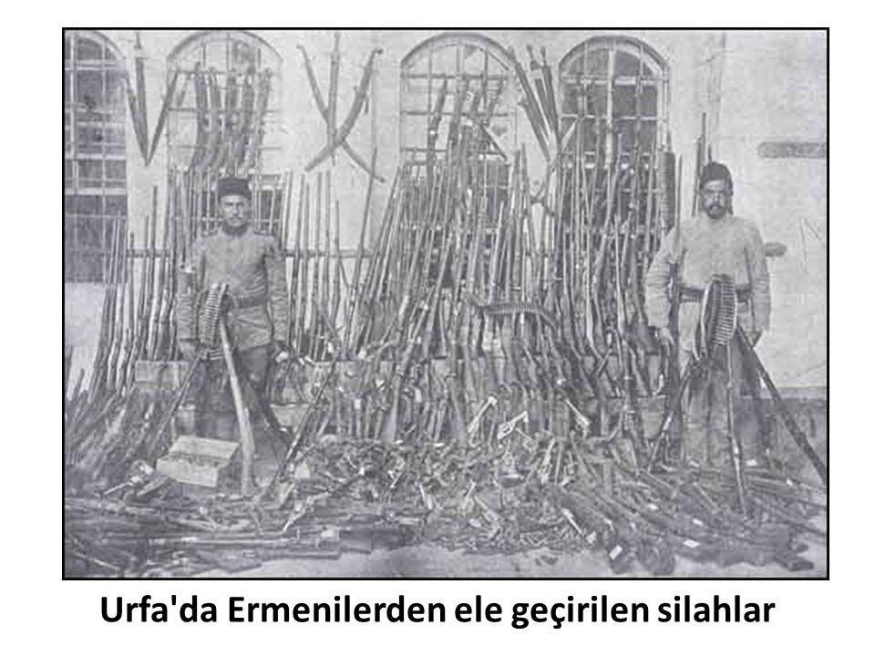 Urfa da Ermenilerden ele geçirilen silahlar