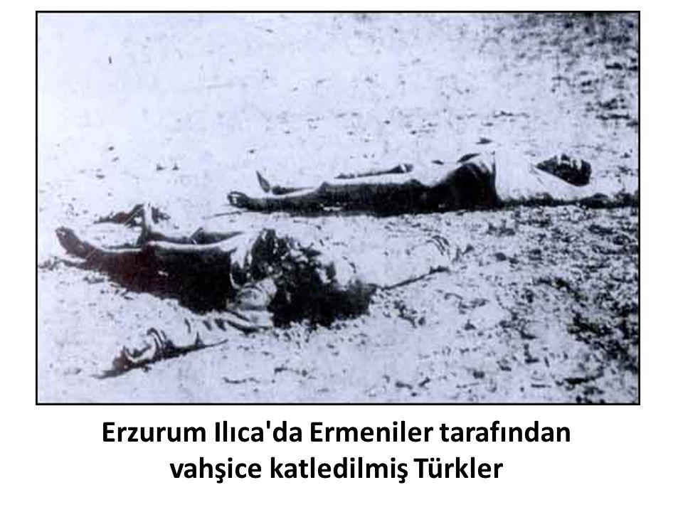 Erzurum Ilıca da Ermeniler tarafından vahşice katledilmiş Türkler