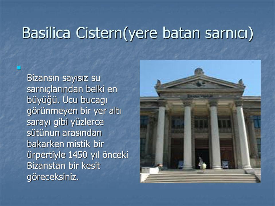 Basilica Cistern(yere batan sarnıcı)