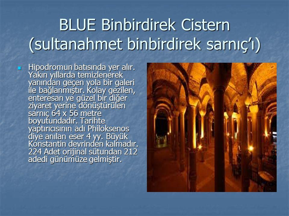 BLUE Binbirdirek Cistern (sultanahmet binbirdirek sarnıç'ı)