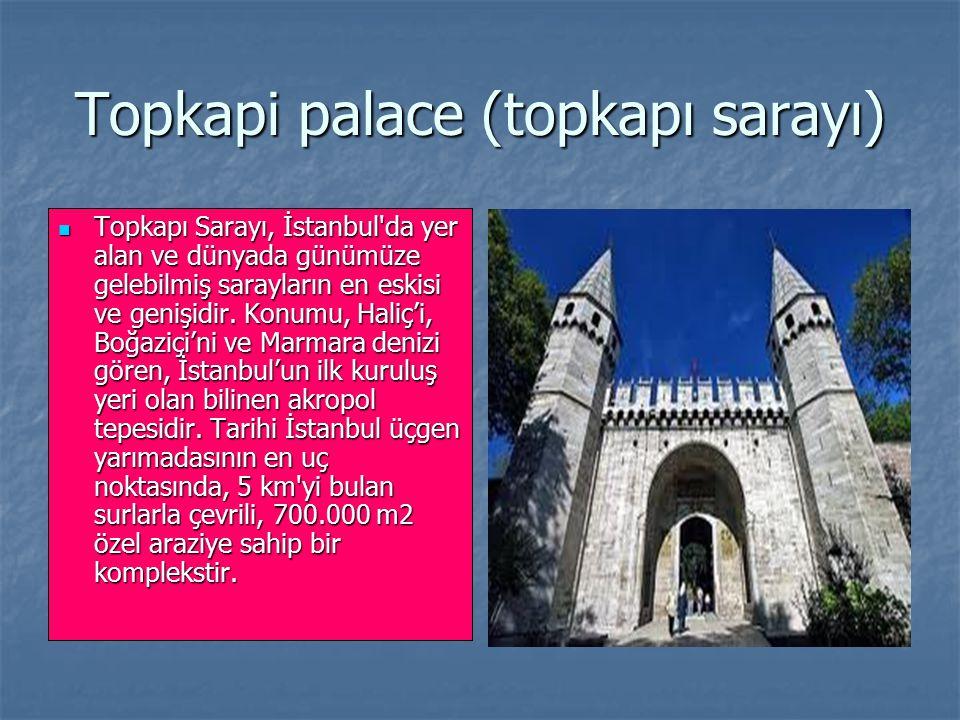 Topkapi palace (topkapı sarayı)