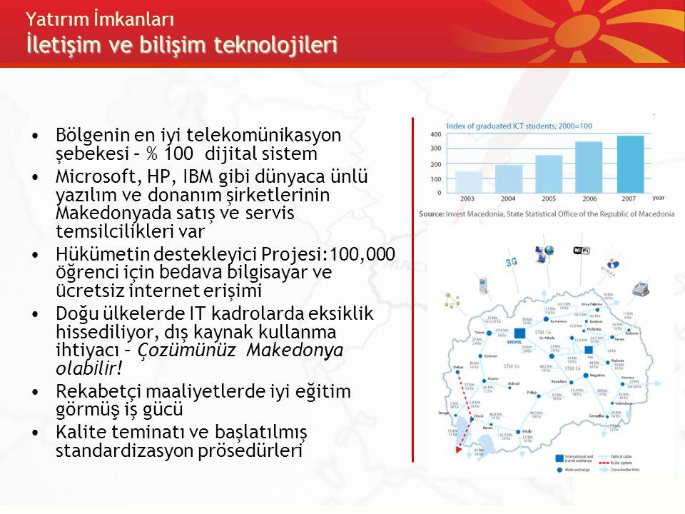 Yatırım İmkanları İletişim ve bilişim teknolojileri