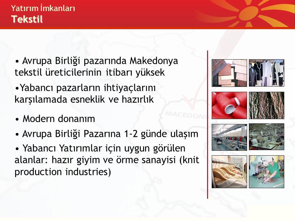 Yatırım İmkanları Tekstil