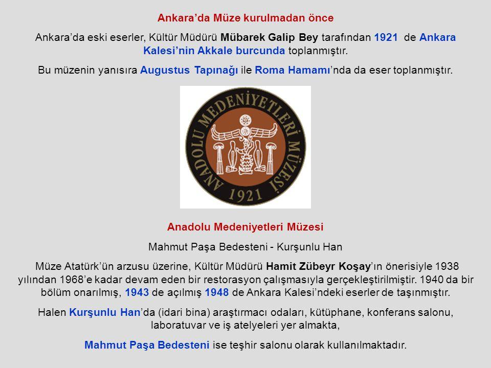 Ankara'da Müze kurulmadan önce Anadolu Medeniyetleri Müzesi
