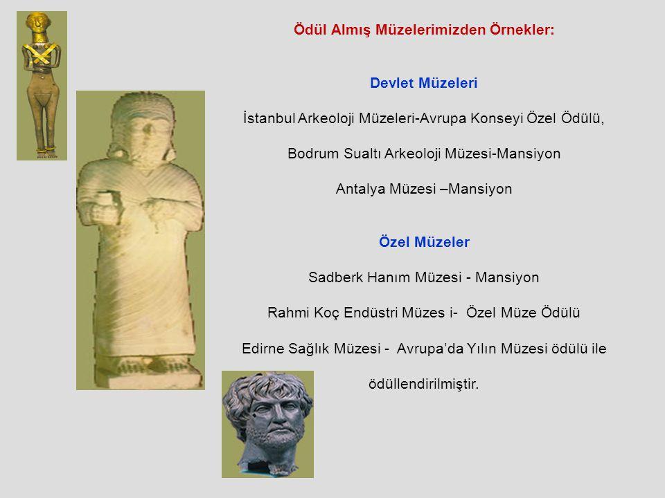 Ödül Almış Müzelerimizden Örnekler: