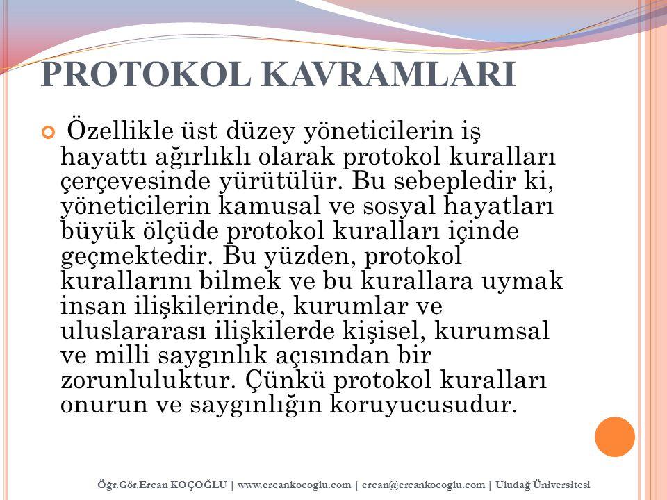 PROTOKOL KAVRAMLARI