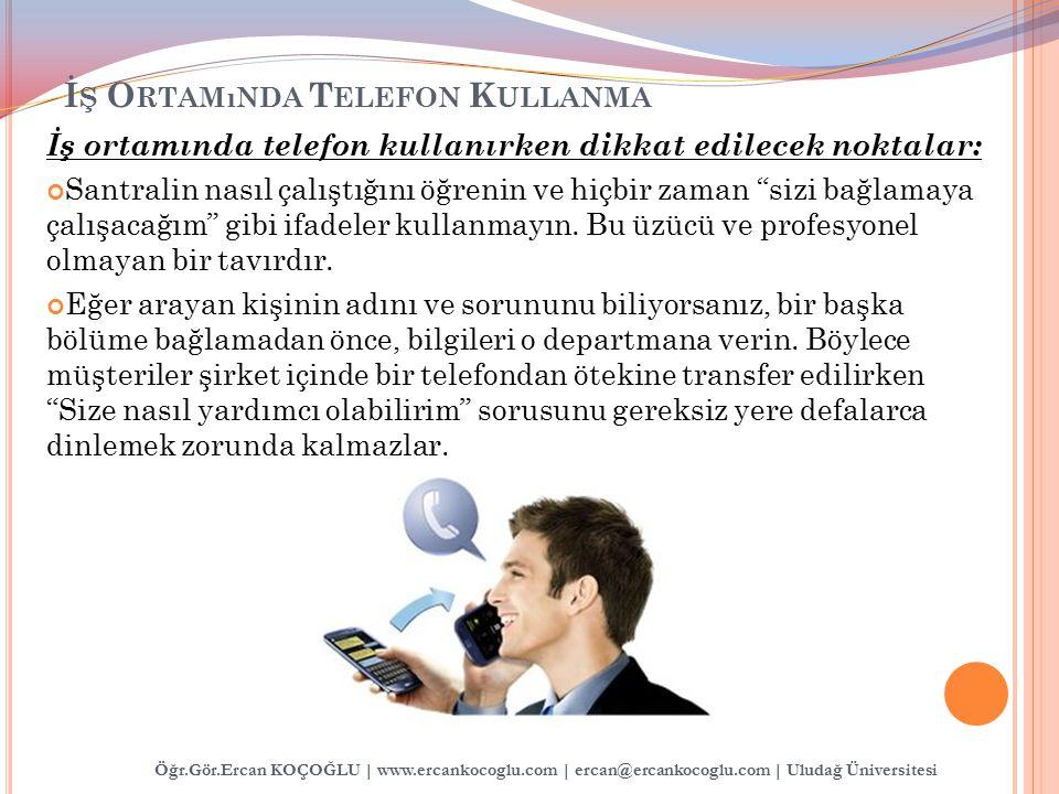 İş Ortamında Telefon Kullanma