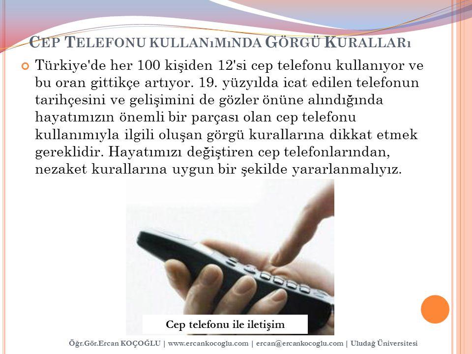 Cep Telefonu kullanımında Görgü Kuralları