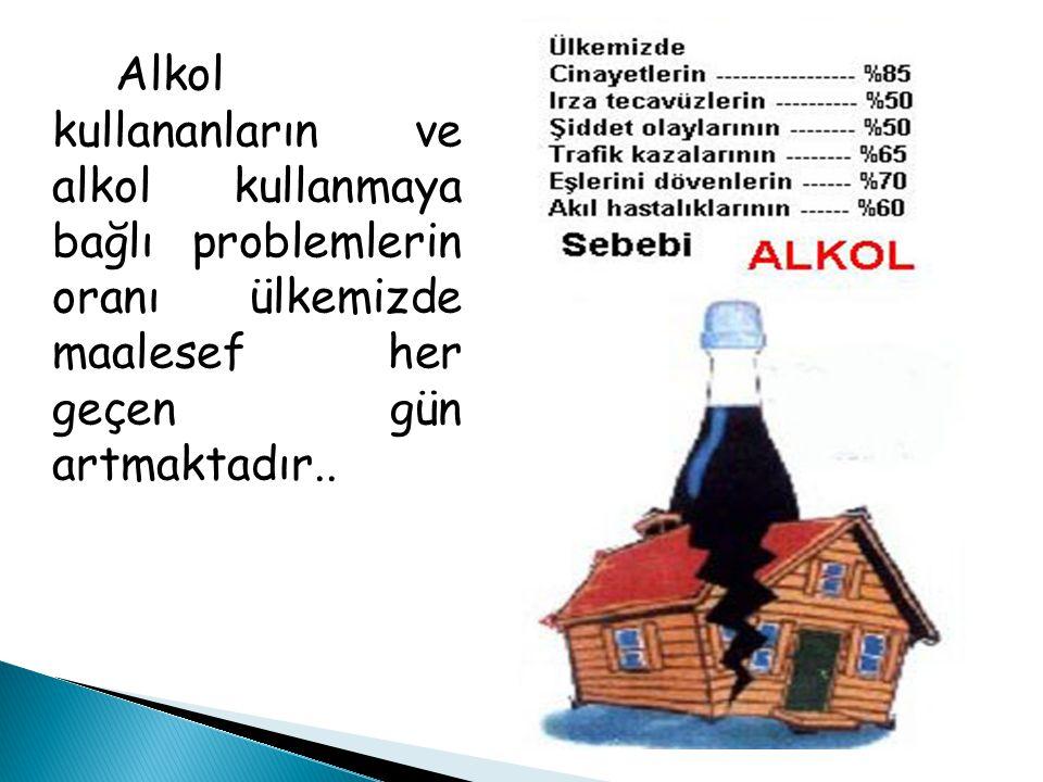 Alkol kullananların ve alkol kullanmaya bağlı problemlerin oranı ülkemizde maalesef her geçen gün artmaktadır..