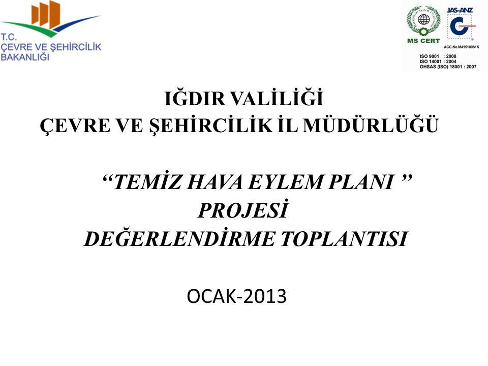 ''TEMİZ HAVA EYLEM PLANI '' PROJESİ DEĞERLENDİRME TOPLANTISI OCAK-2013