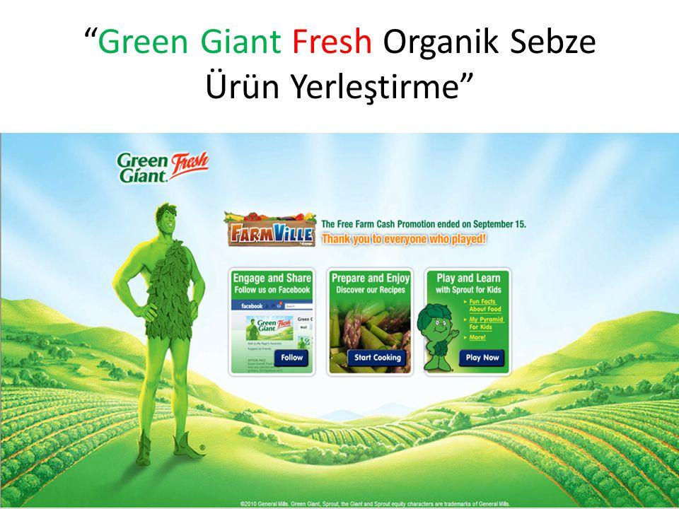 Green Giant Fresh Organik Sebze Ürün Yerleştirme