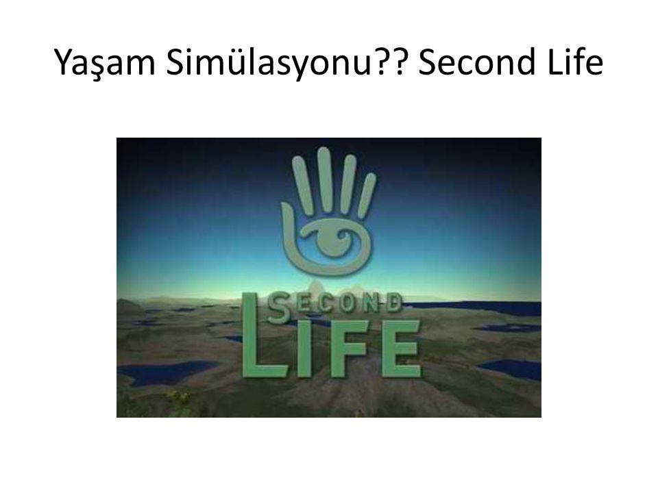 Yaşam Simülasyonu Second Life