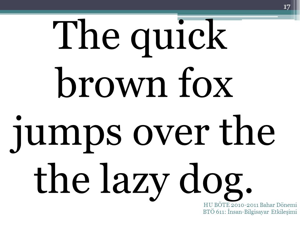 The quick brown fox jumps over the the lazy dog.