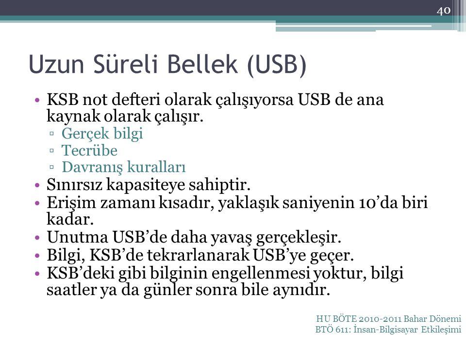 Uzun Süreli Bellek (USB)