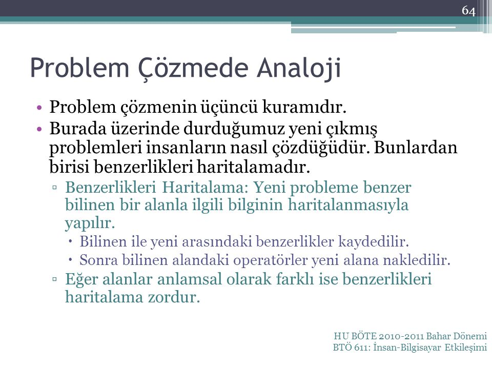 Problem Çözmede Analoji