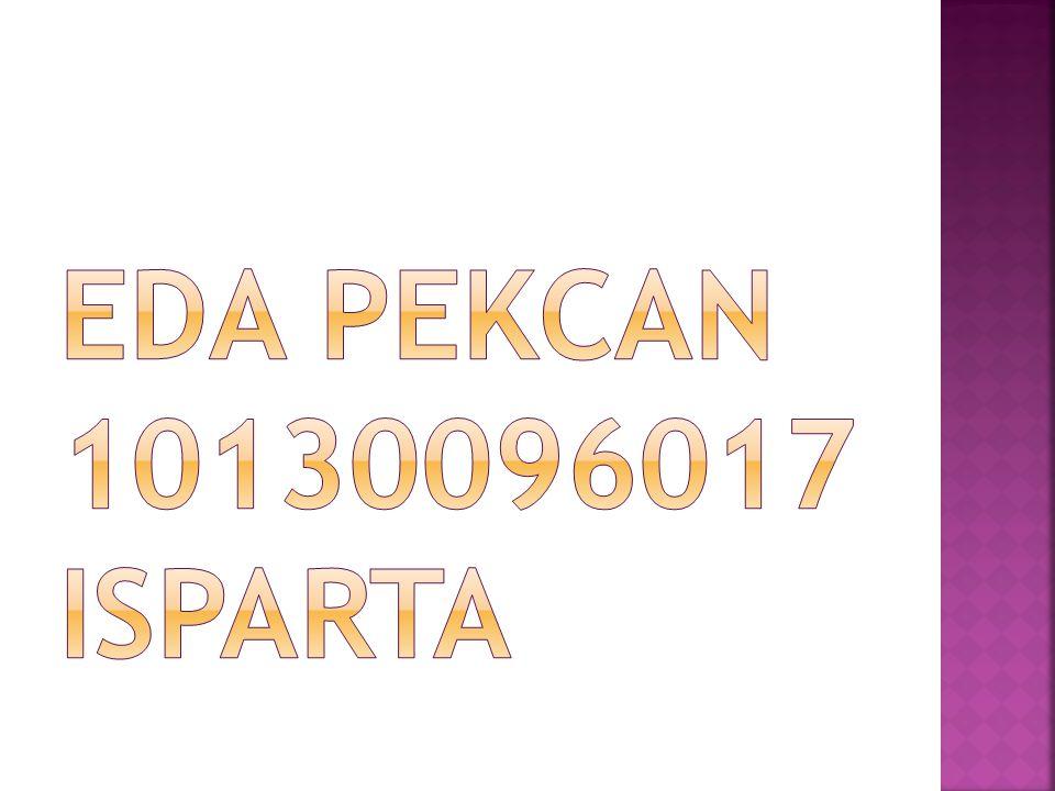 EDA PEKCAN 10130096017 ISPARTA