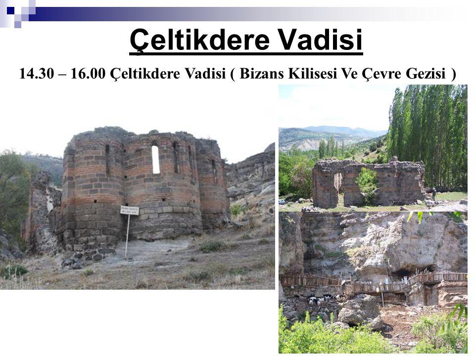 14.30 – 16.00 Çeltikdere Vadisi ( Bizans Kilisesi Ve Çevre Gezisi )