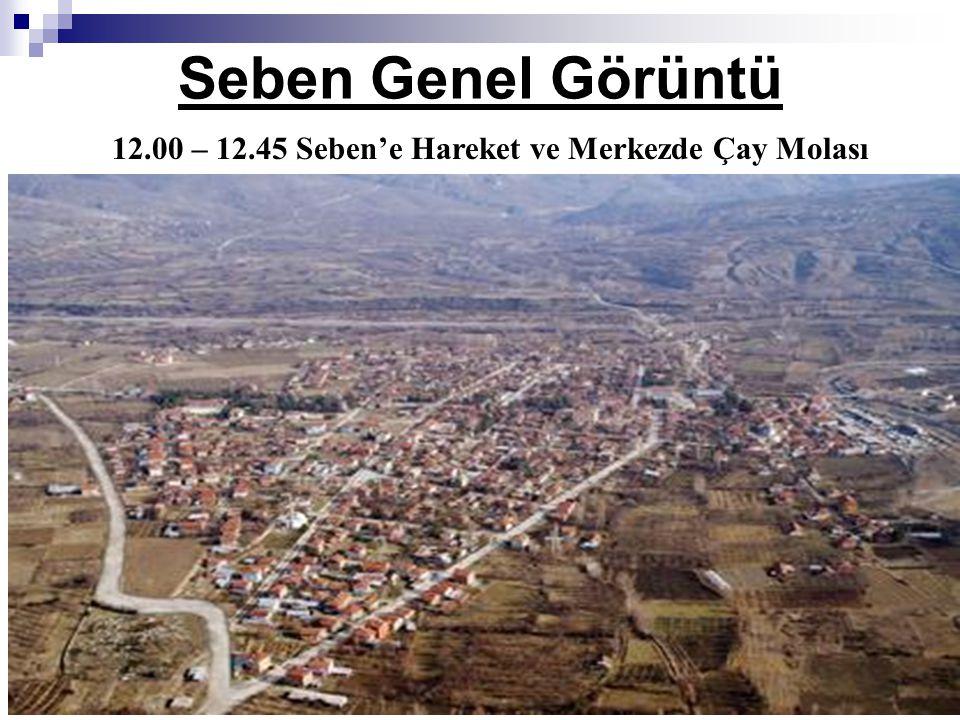 Seben Genel Görüntü 12.00 – 12.45 Seben'e Hareket ve Merkezde Çay Molası