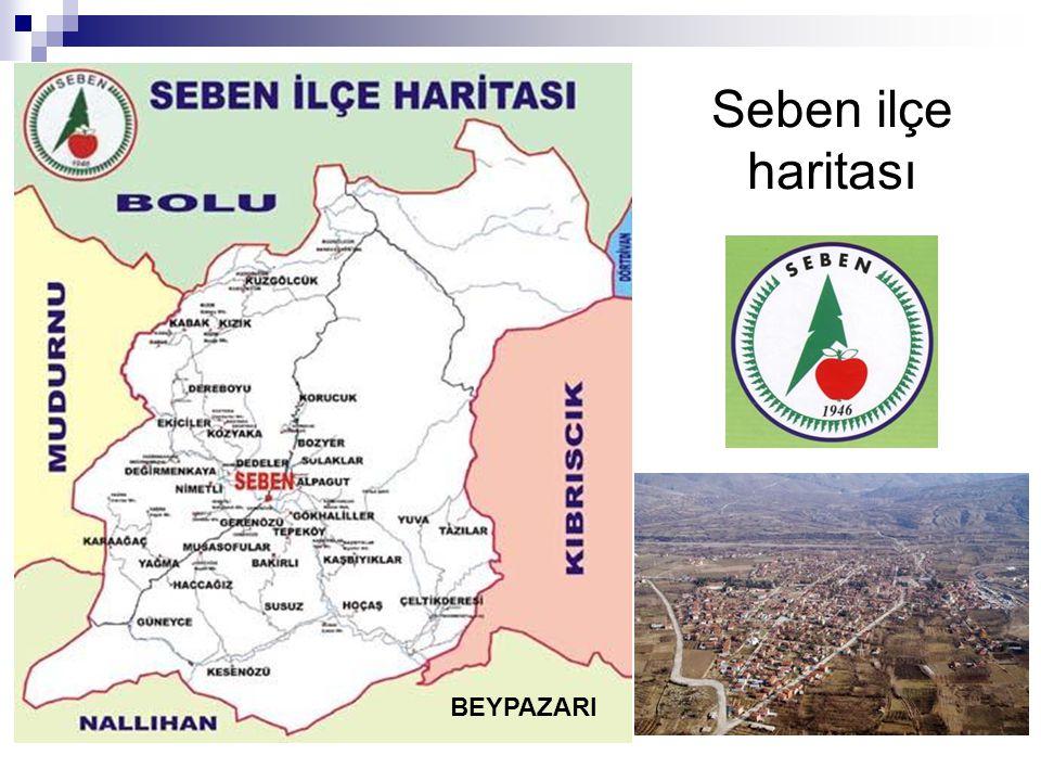Seben ilçe haritası BEYPAZARI