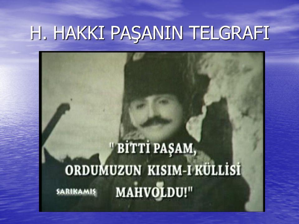 H. HAKKI PAŞANIN TELGRAFI