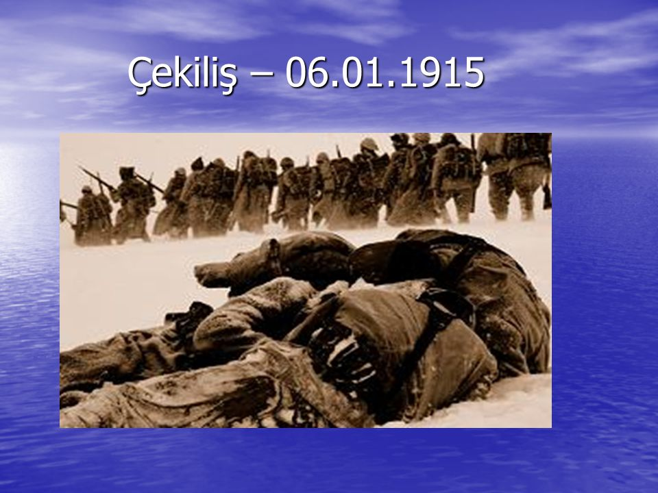 Çekiliş – 06.01.1915