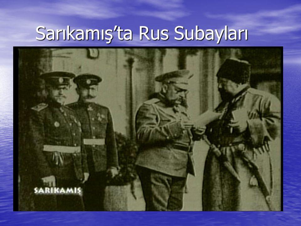 Sarıkamış'ta Rus Subayları