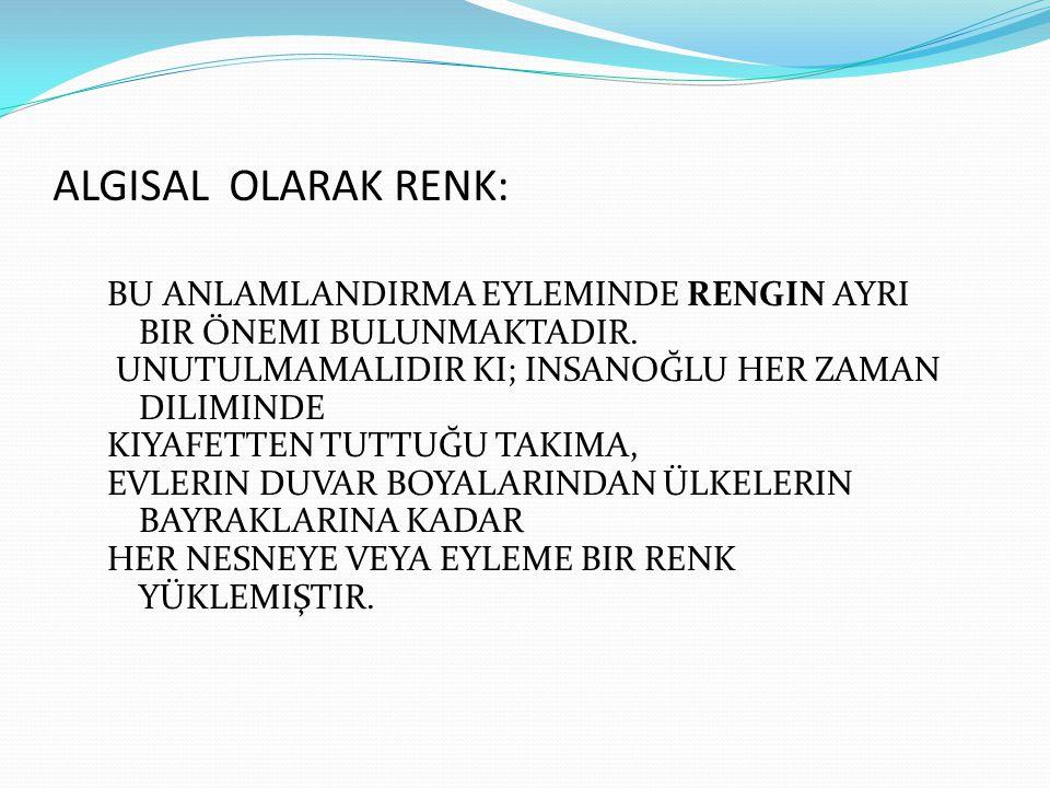ALGISAL OLARAK RENK: