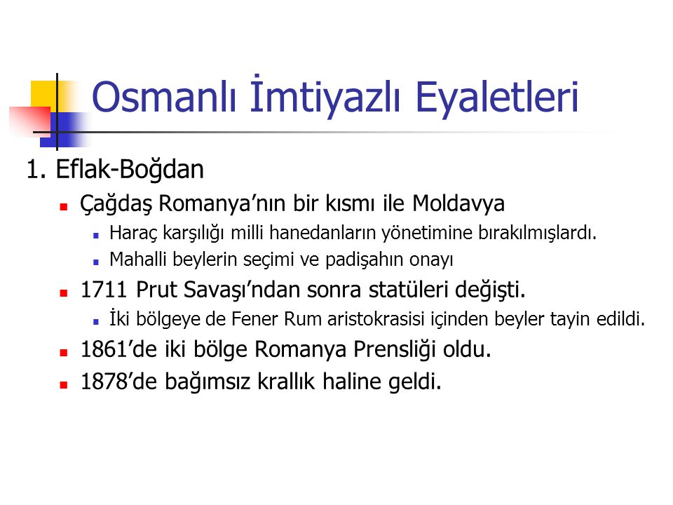 Osmanlı İmtiyazlı Eyaletleri