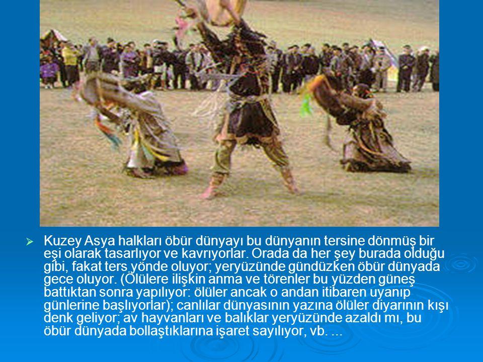 Kuzey Asya halkları öbür dünyayı bu dünyanın tersine dönmüş bir eşi olarak tasarlıyor ve kavrıyorlar.