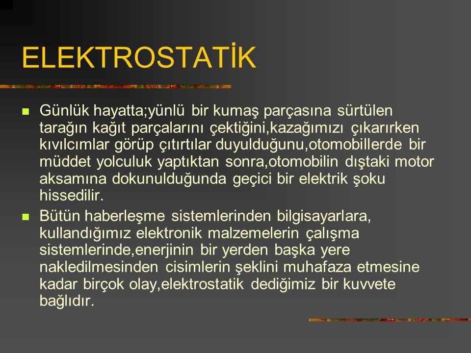 ELEKTROSTATİK