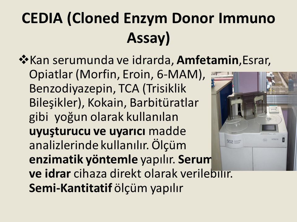 CEDIA (Cloned Enzym Donor Immuno Assay)