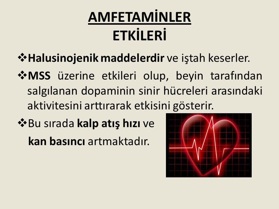 AMFETAMİNLER ETKİLERİ