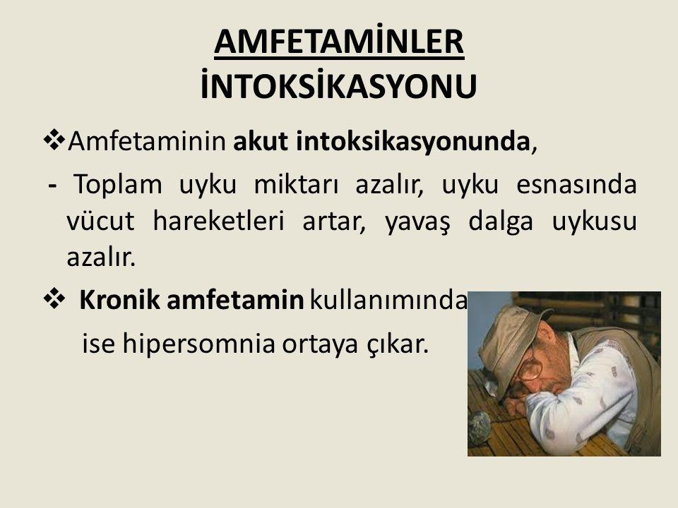 AMFETAMİNLER İNTOKSİKASYONU