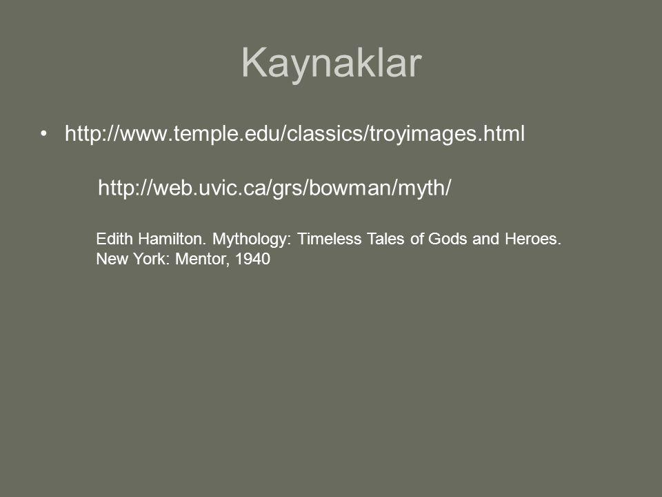 Kaynaklar http://www.temple.edu/classics/troyimages.html