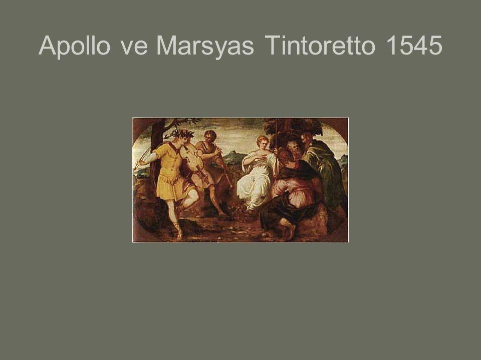 Apollo ve Marsyas Tintoretto 1545